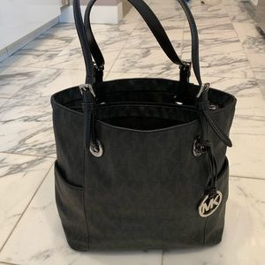 Michael Kors logo leather tote purse